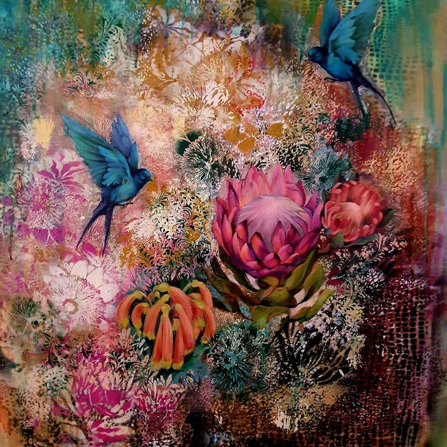 Birds are living here. Painting by Estelle Kenyon