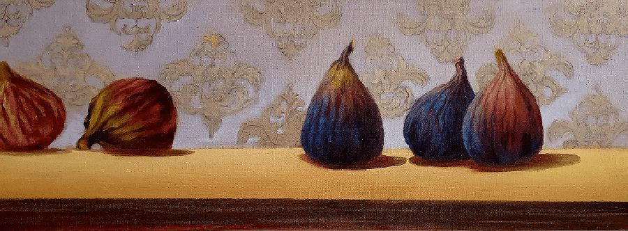 Fig Study 2. Painting by Estelle Kenyon.