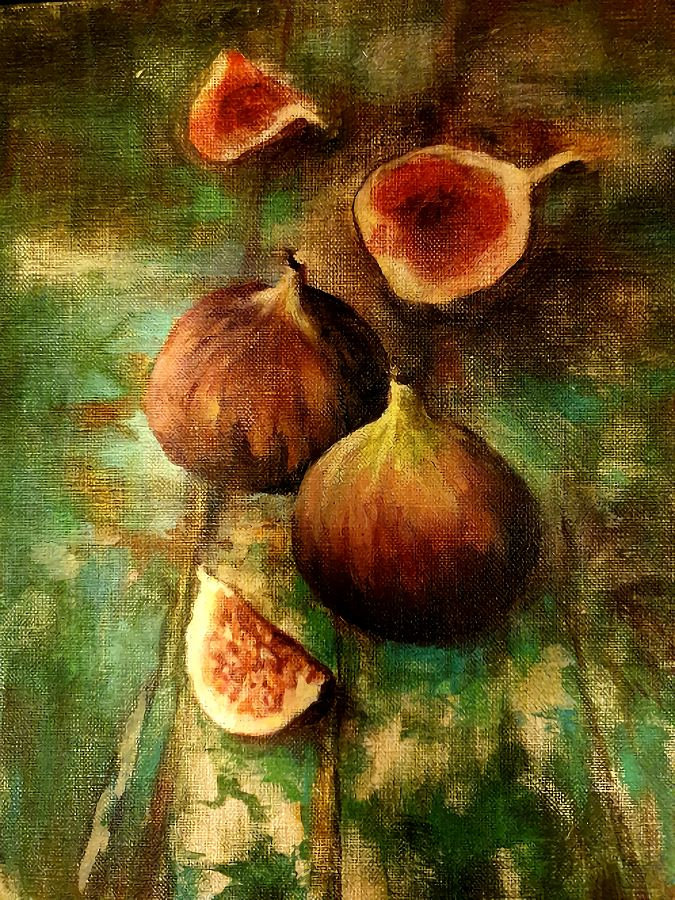 Fig Study. Painting by Estelle Kenyon.