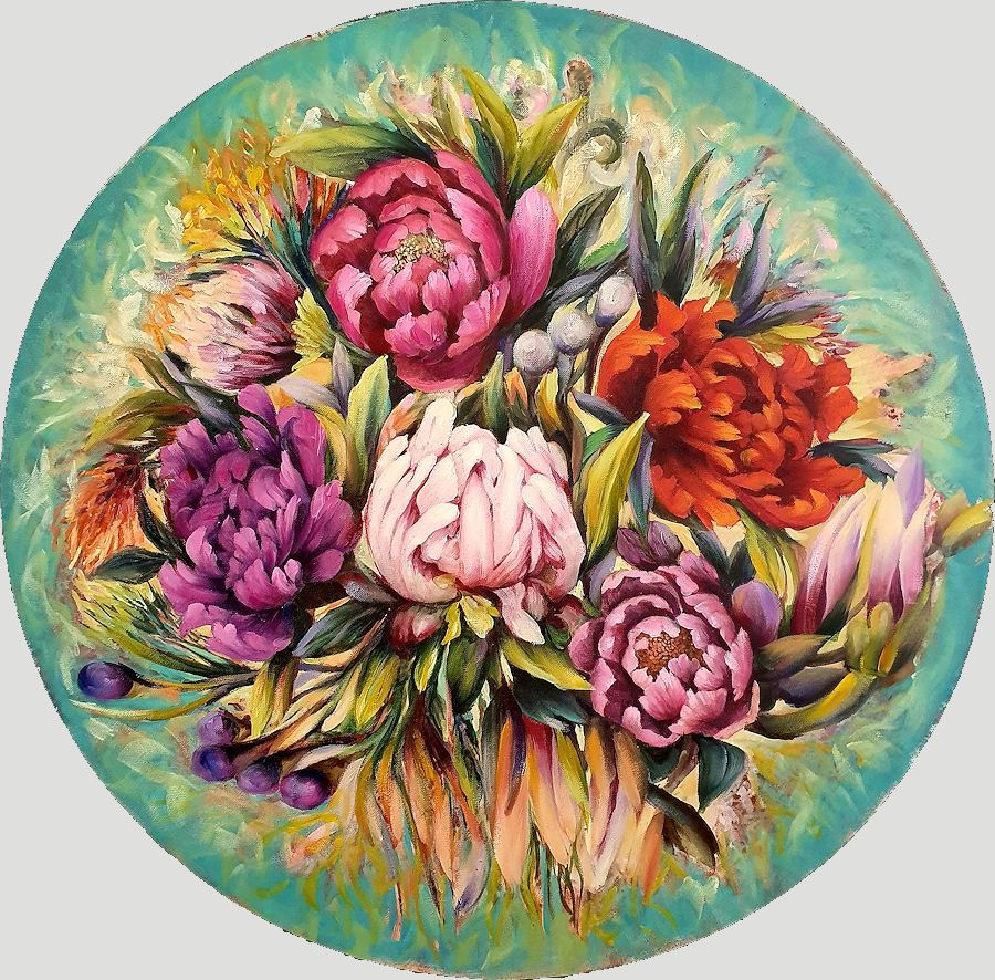 Floral Study. Painting by Estelle Kenyon