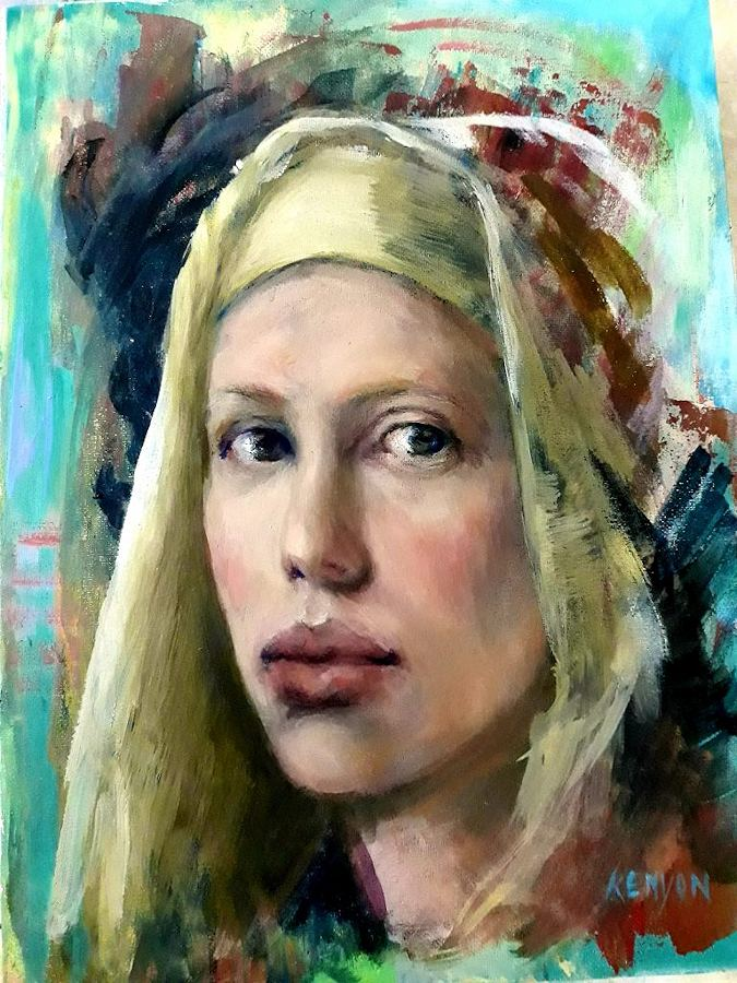 Here is Looking at You. Painting by Estelle Kenyon.