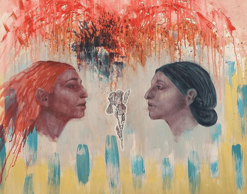 Let's Talk About Iris. Painting by Estelle Kenyon