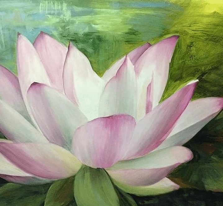 No Mud, no Lotus. Painting by Estelle Kenyon.