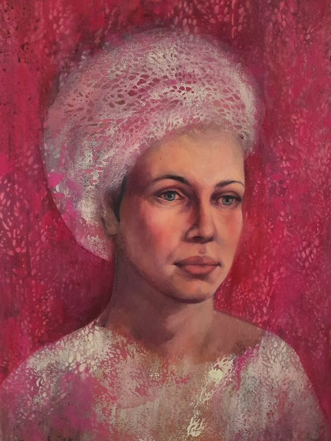 Pink Thoughts. Painting by Estelle Kenyon