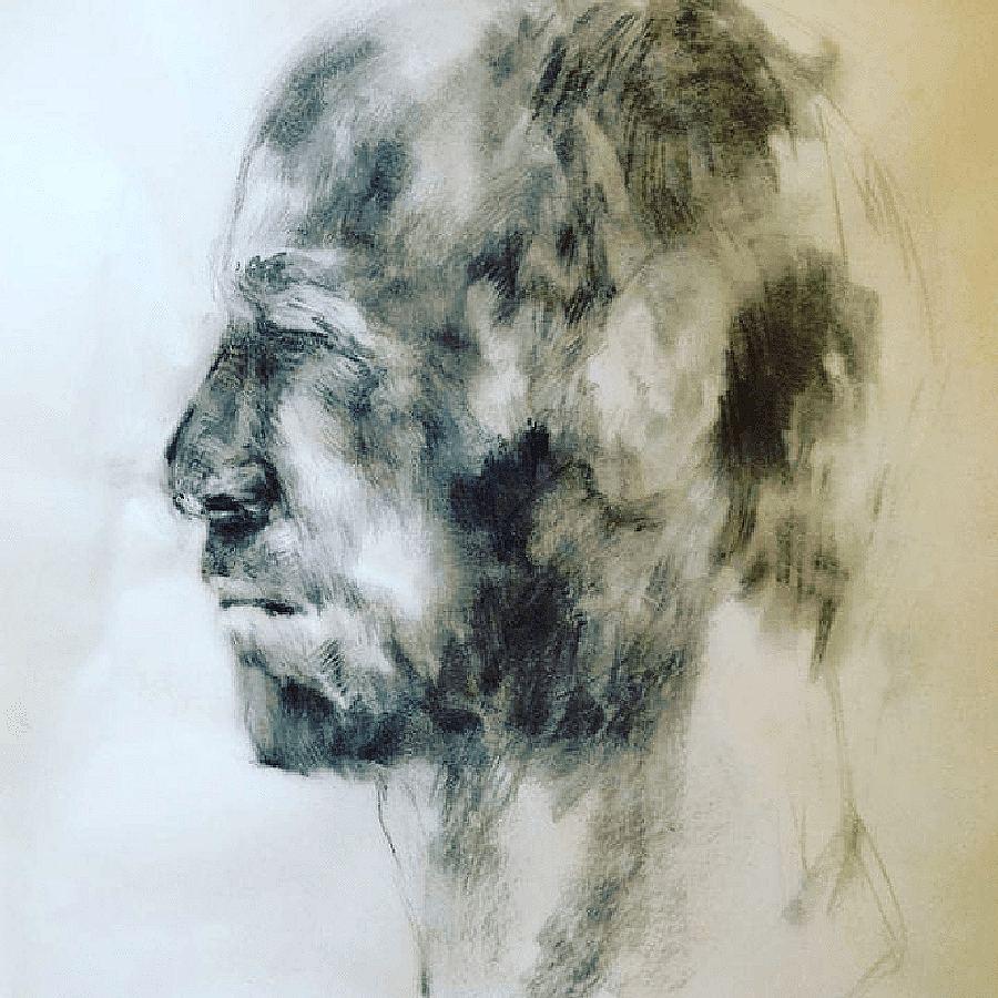 Portrait Study Weyers. Painting by Estelle Kenyon.