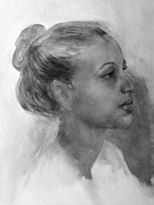 Portrait Study. Painting by Estelle Kenyon.