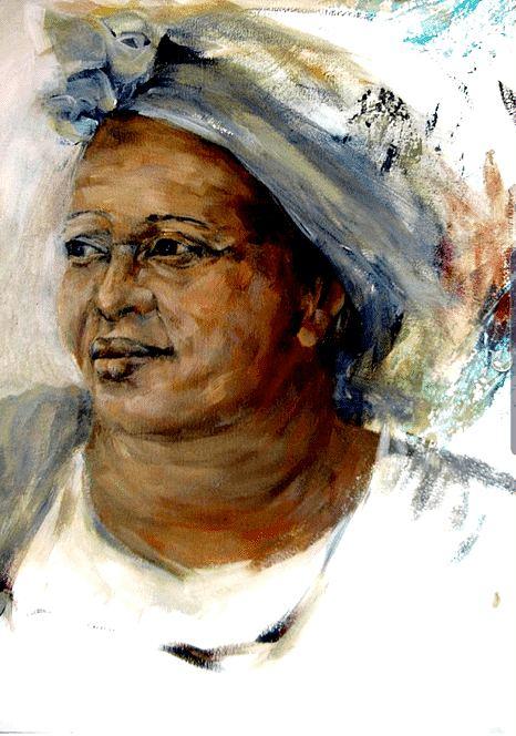 Portrait of Lulu. Painting by Estelle Kenyon.