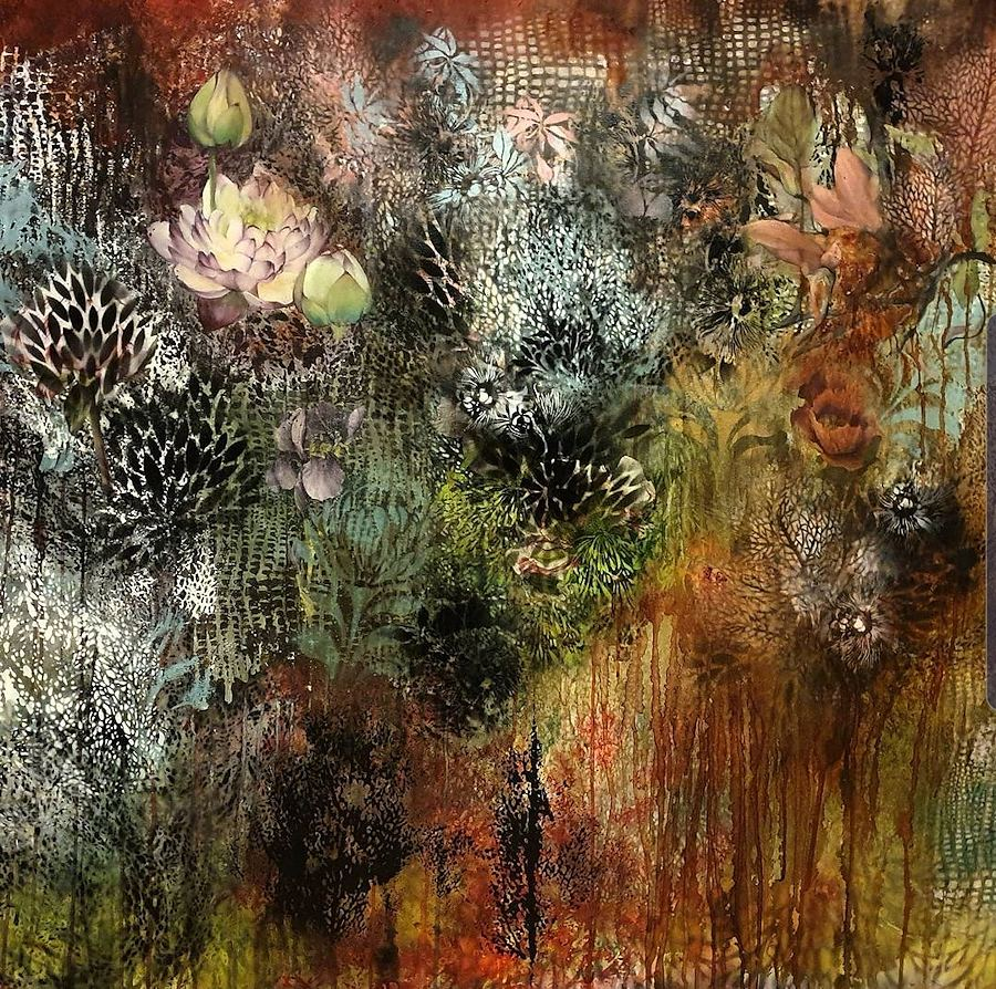 Sounds in the Forest. Oil painting by Estelle Kenyon South Africa