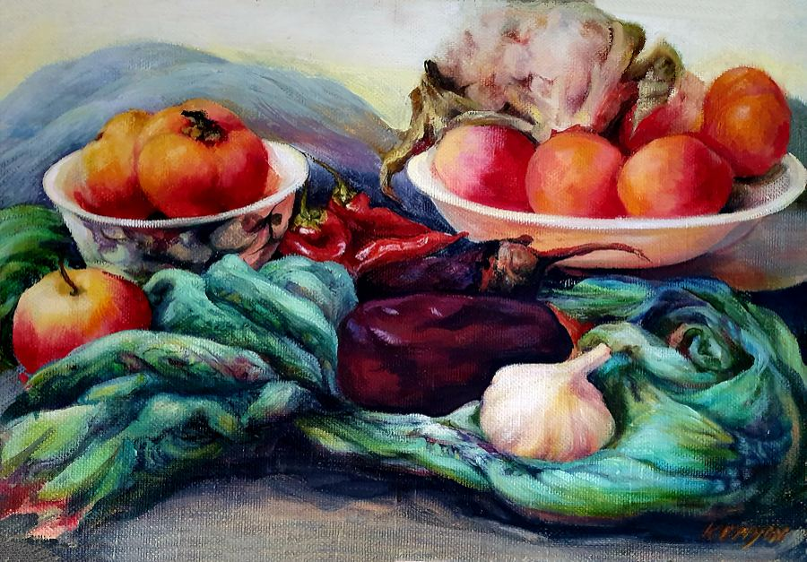 Still Life. Painting by Estelle Kenyon.