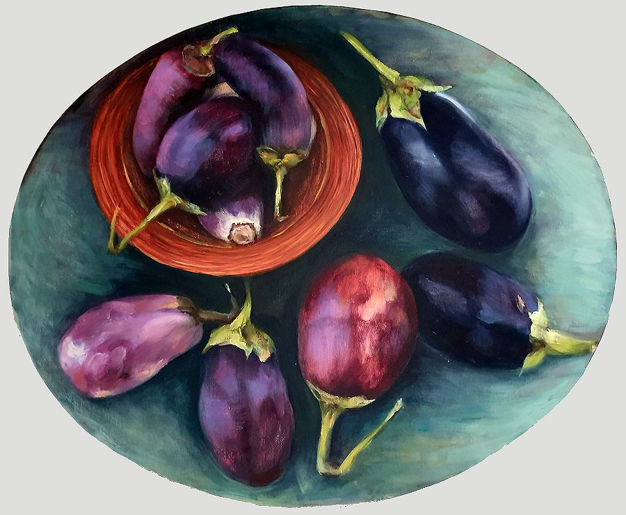 Still Life with Aubergines.