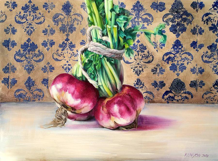 Turnip Study. Painting by Estelle Kenyon