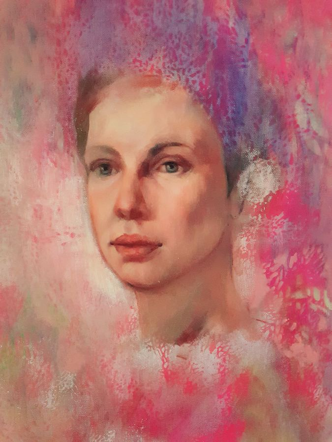 Pretty in Pink. Painting by Estelle Kenyon