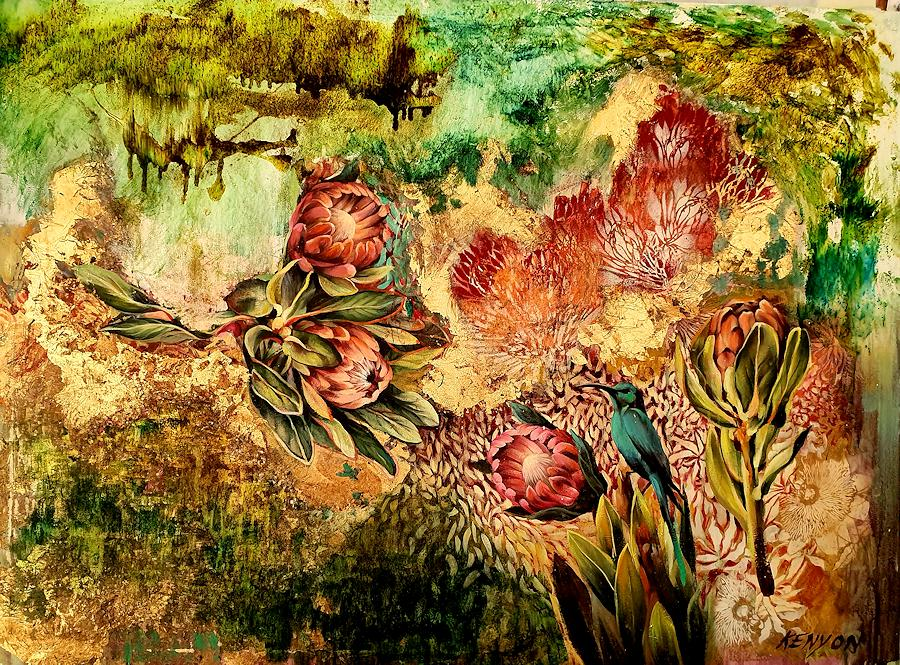 I remember Your Garden. Painting by Estelle Kenyon